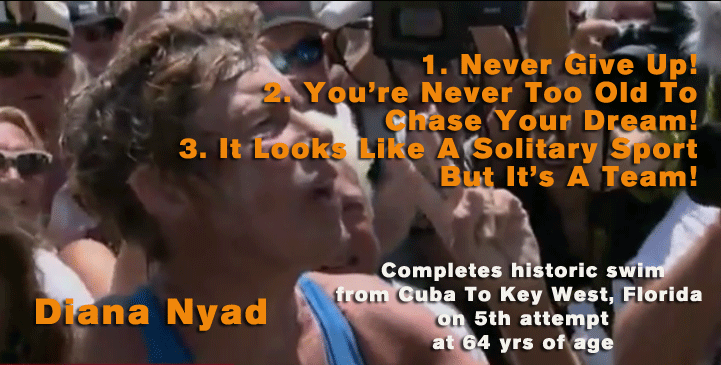 Diana Nyad - 3 messages after historic swim